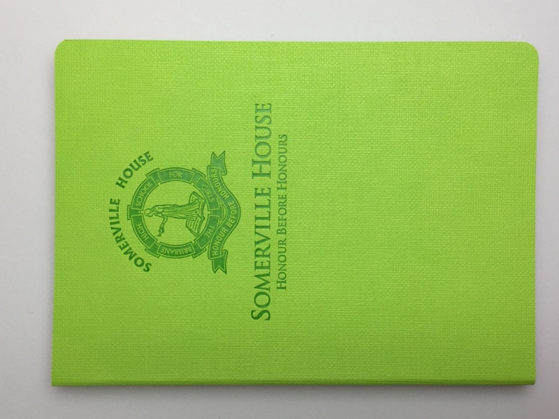 promotional diaries in green